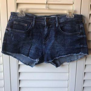 H&M Short Shorts Denim Dark Wash